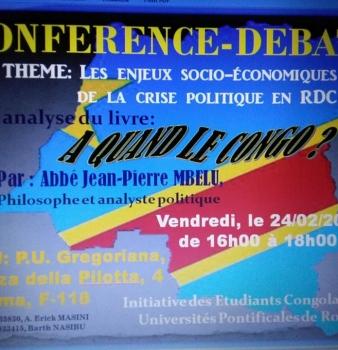 Conférence – Débat à Rome autour de «A quand le Congo?»