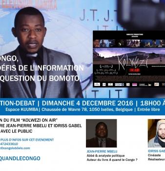 Projection – Débat à Bruxelles : Le Congo, les défis de l'information et la question du Bomoto