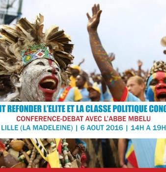 Conférence avec Jean-Pierre Mbelu – 6 août 2016 à Lille