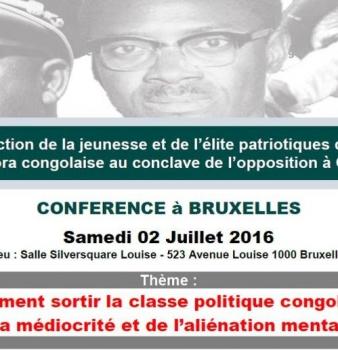 Conférence avec Jean-Pierre Mbelu – 2 juillet 2016 à Bruxelles